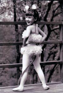 Rachel in her first dance costume.
