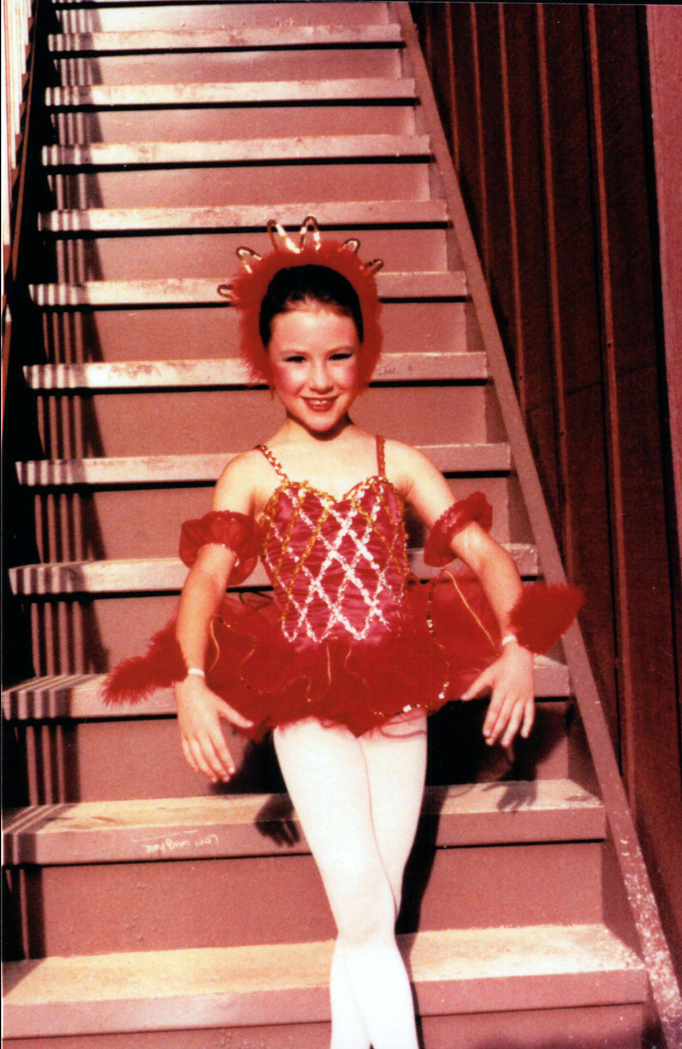 """Rachel's first ballet """"solo"""" costume."""