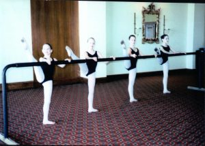 """Rachel (far left) in a community """"Lecture Demonstration"""" performance."""