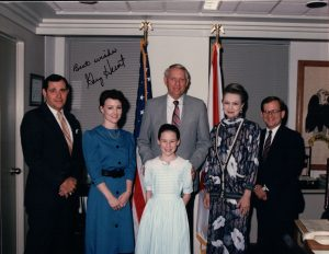 Rachel with the, then, Govenor of Alabama.