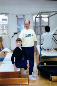 "Rachel in special ""body conditioning"" physical therapy for an injury (now we realize it was related to EDS, but we didn't have the diagnosis, at the time)."