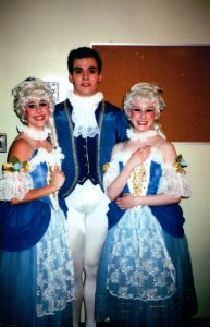 "Rachel (right) after a performance of ""Cinderella""."