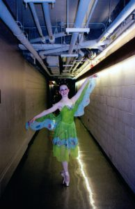 "Rachel after a performance of ""Cinderella""."