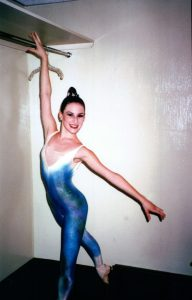 Rachel before a performance of Equinoxe (Jean Michel Jarre).