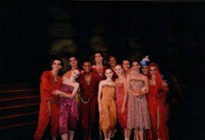 "Rachel (center) and full cast of world premiere, ""Blood of Seyavash""."