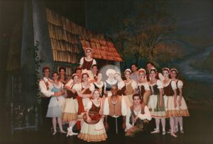 Cast of Giselle (Rachel on shoulders).