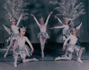 Rachel (center) about age 7.