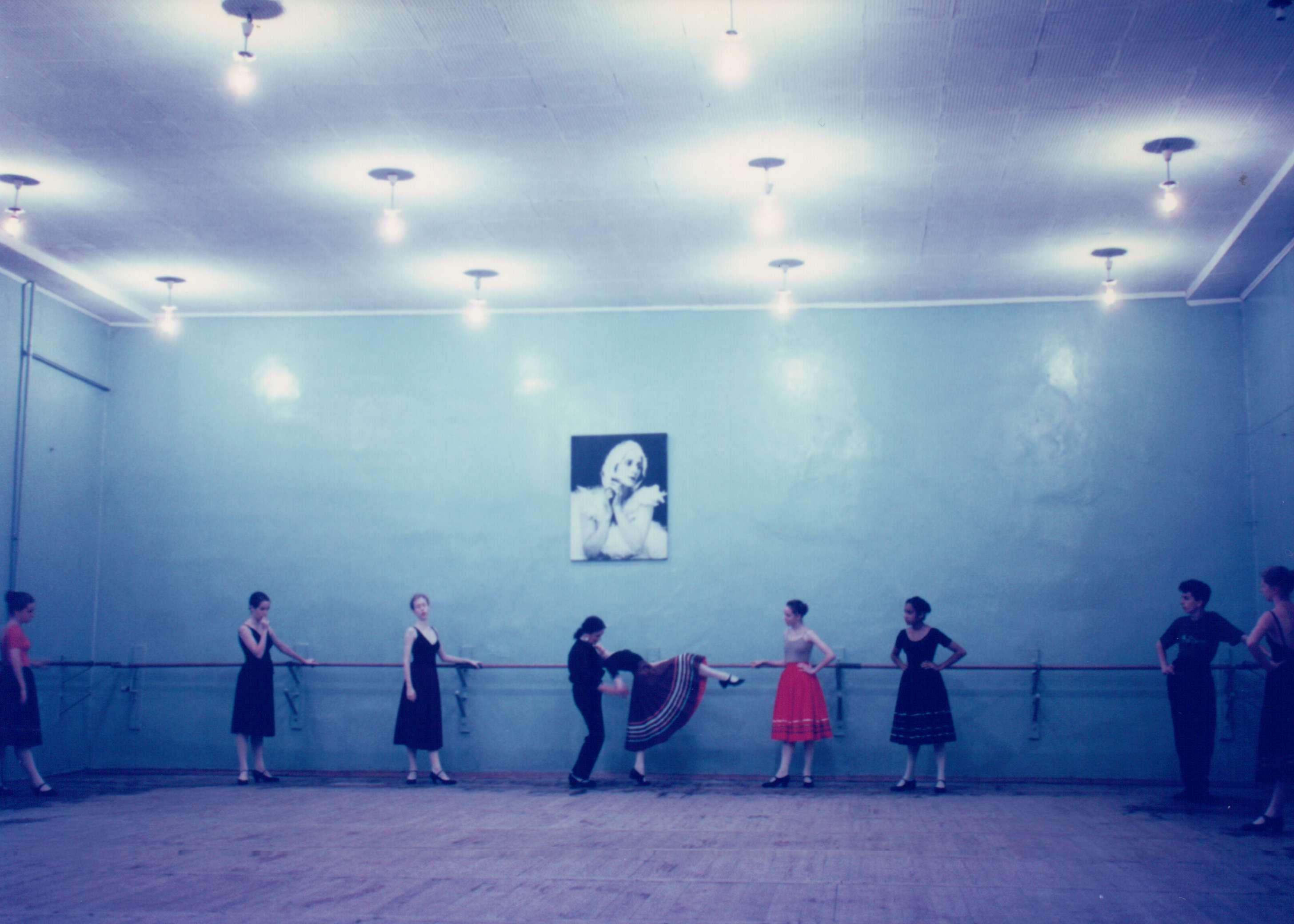Rachel (center), in Russia