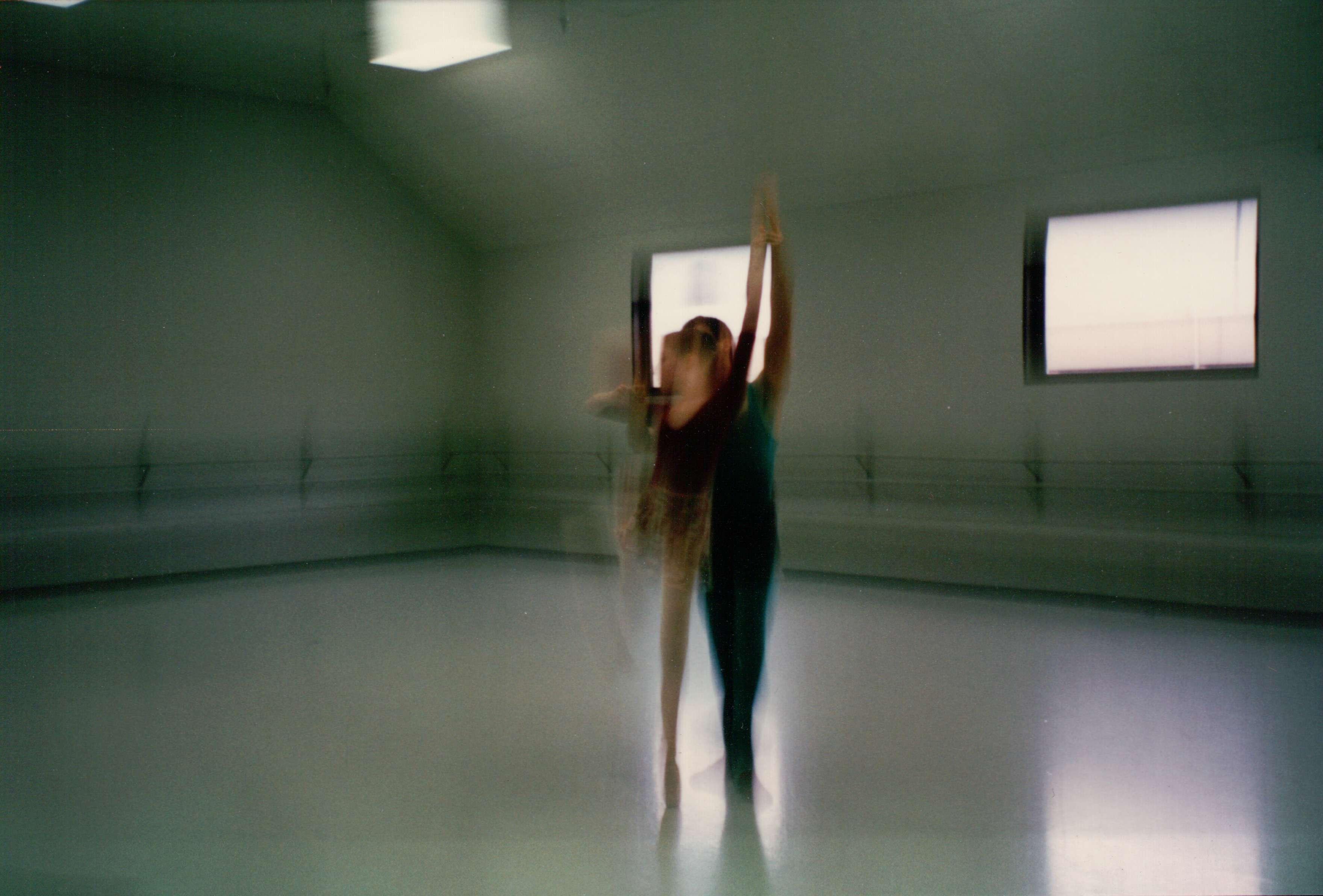 Rachel in rehearsal.