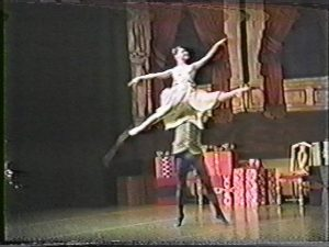 "Rachel in ""Snow Pas de Deux"", from Nutcracker."
